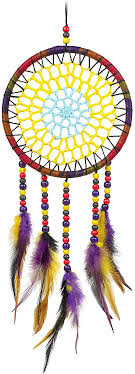 Amazon Com Mirundel Dream Catcher Wall Decor Purple Yellow Feather Handmade Dreamcatcher For Bedroom Hanging Decorations Boho Dream Catchers For Babies Girls Boys Kids Room Home Kitchen