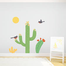 Cactus With Birds Wall Stickers Desert Wall Decal