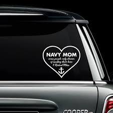 Navy Mom Raised My Hero Decal Motherproud