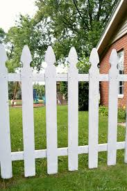 Spray Painting A Picket Fence Mad In Crafts