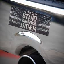 I Proudly Stand For The National Anthem Stickers Added To The Website Use Discount Code Free1 At Checkout For B Bumper Stickers Custom Decals National Anthem