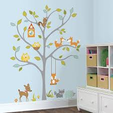 Roommates Woodland Fox And Friends Tree Giant Peel And Stick Wall Decals Bed Bath Beyond