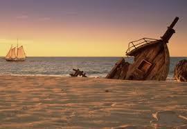 schooner off s with ship wreck