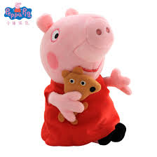 Peppa Pig Plush Toy Doll Peppa Peppa Pig Peggy George Backpack Douyin  Social People Cartoon Doll