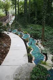 recycled glass landscape recycled