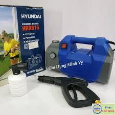 Máy phun xịt rửa xe cao áp Hyundai HRX815 - motor từ - tự hút nước có video  test máy