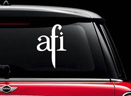 Amazon Com Afi Band White 6 Vinyl Decal Sticker For Car Automobile Window Wall Laptop Notebook Etc Any Smooth Surface Such As Windows Bumpers Kitchen Dining