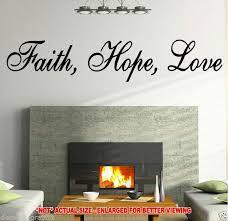 Faith Hope Love Vinyl Wall Decal 20065 For Sale Online Ebay