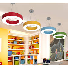 O Shape Suspended Lamp Letters Numbers Colorful Foyer Kids Room Acrylic Pendant Light In Warm White Beautifulhalo Com
