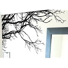 Amazon Com Large Tree Wall Decal Sticker Semi Gloss Black Tree Branches 44in Tall X 100in Wide Left To Right Removable No Paint Needed Tree Branch Wall Stencil The Easy Way Kitchen