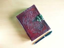 skull leather journal notebook diary