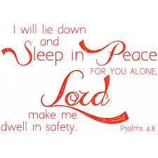 Scripture Wall Decal Psalms 4 8 I Will Lie Down And Sleep In Peace