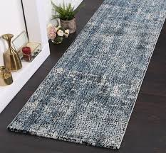 grey turquoise runner rug pile height