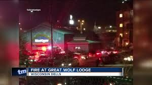 fire in room at great wolf lodge