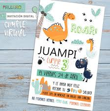 Invitaciones Digitales Dino 2
