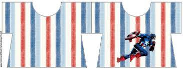 Imprimibles Del Capitan America 4 Ideas Y Material Gratis Para