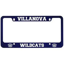 Villanova University Metal License Plate Frame Blue