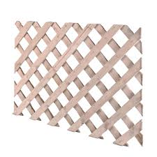 Timber Lattice Trellis Panel H 620mm W 2 44m Departments Diy At B Q Trellis Panels Lattice Trellis Decking Screws