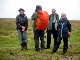 The four people who did the entire Perambulation. Photo: Hilary Marshall  hilary marshall photo 20160828 DSCN4827 – DPA