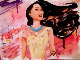 pocahontas watercolor print disney s