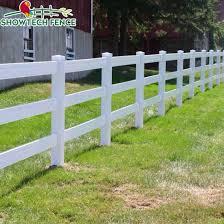 China Uv Proof 3 Rails Farm Horse Vinyl Plastic Fencing China Pvc Fence Pvc Fence Supplier