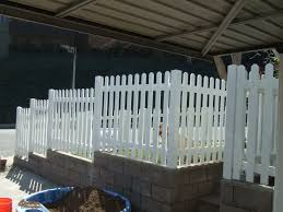Custom Dog Ear Picket Fence Gng Vinyl Fencing And Patio Covers