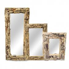 driftwood wall mirror rectangular