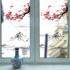 Mountain Plum Removable Pvc Window Film Wall Sticker Matte Sale Price Reviews Gearbest