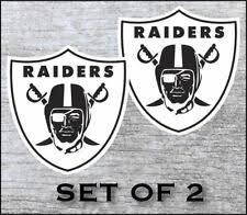 Oakland Raiders Vinyl Cornhole Decal Logo Wall Sticker Car Truck 12 Set Of 2 For Sale Online Ebay