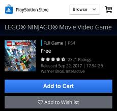 Get your FREE LEGO NINJAGO Game while you can!!! [image] : PS4