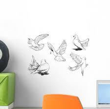Doves Wall Stickers Wallmonkeys Com