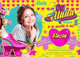 Invitacion De Cumpleanos Digital De Soy Luna S 7 00 En Mercado
