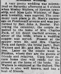 Marriage Lulu Wickizer and Wesley Walters - Newspapers.com