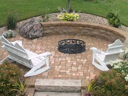 low budget patio backyard fire pit area