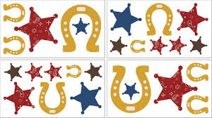 Wild West Cowboy Western Baby And Kids Wall Decal Stickers Set Of 4 Sheets Only 24 99