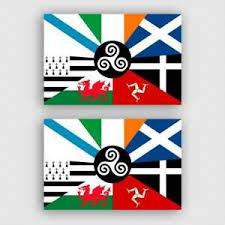 2x Sticker Celtic Nations Flag Ireland Scotland European Car Window Phone Decal Ebay