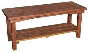 cedar outdoor coffee table from