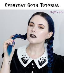 everyday gothic makeup tutorial quick