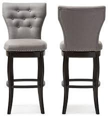 leonice faux leather swivel bar stools