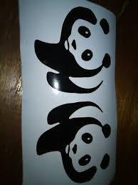 Free Shipping Panda Bear Vinyl Decore Wall Car Window Laptop Decal Sticker Ebay
