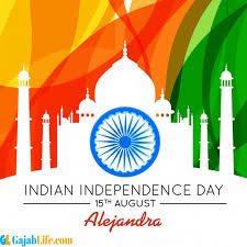 Alejandra Happy Independence Day wish Images - August 2020