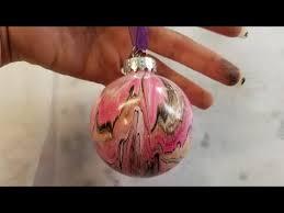 acrylic pour ornaments 2018