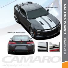 Chevy Camaro Racing Stripes With Outlines Cam Sport Pin 2016 2018 Rally Decal Graphics Premium Install And Supreme Install Speedycardecals Fast Car Decals Auto Decals Auto Stripes Vehicle Specific Graphics