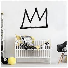 Art Pin Basquiat Basq King Crown Wall Decal Etsy