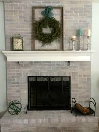 diy ideas to give your brick fireplace