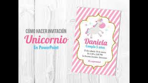 Tutorial Como Hacer Invitacion Unicornio En Powerpoint Muy Facil