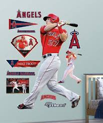 Fathead Mike Trout Wall Decal Set Best Price And Reviews Zulily