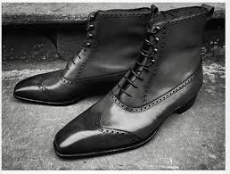 mens wingtip leather lace up boot cmb