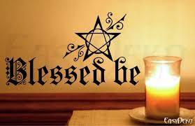 Pagan Wall Art Sticker Magic Mystic Witch Home Decor Livingroom Wall Stickers Room Wiccan Paganism Wall Decal Pentagram Wicca Blessed Be