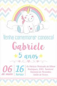 Convite Festa Unicornio Convites Digitais